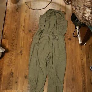 A green pantsuit